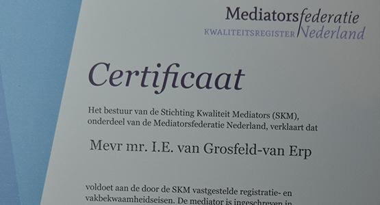 Certificaat Grosfeld Scheiden